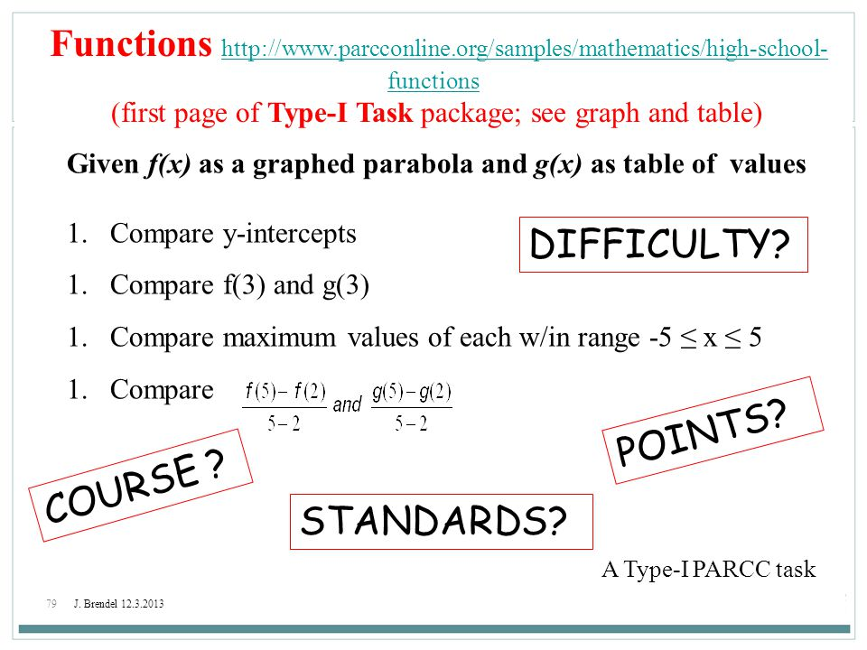 (first page of Type-I Task package; see graph and table)