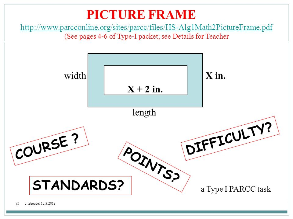 (See pages 4-6 of Type-I packet; see Details for Teacher