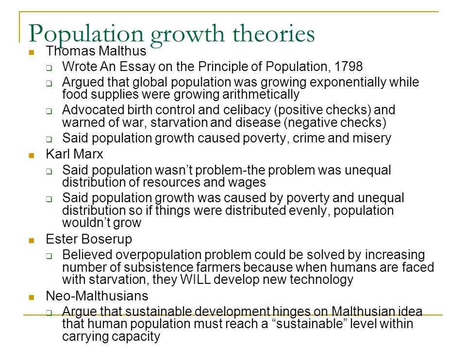 Population growth theories