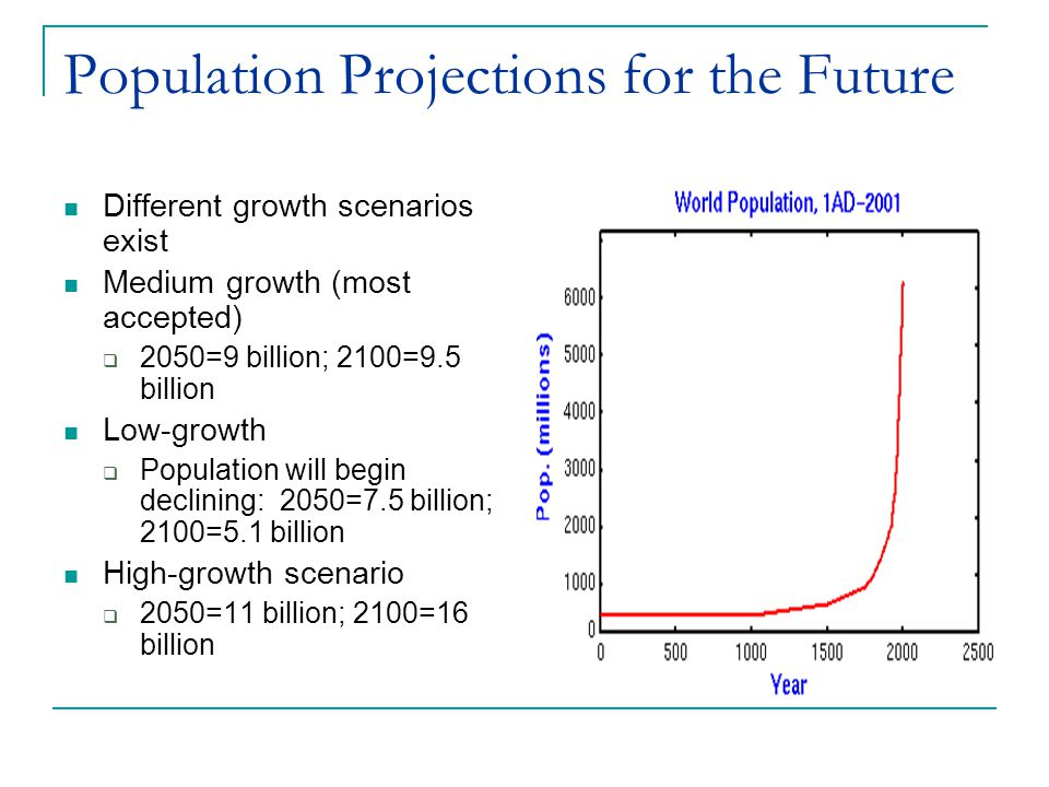 Population Projections for the Future