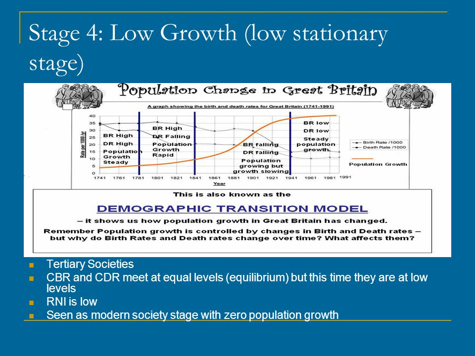Stage 4: Low Growth (low stationary stage)