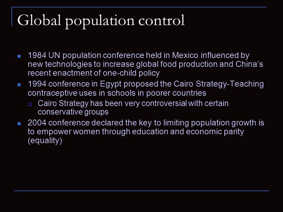 Global population control
