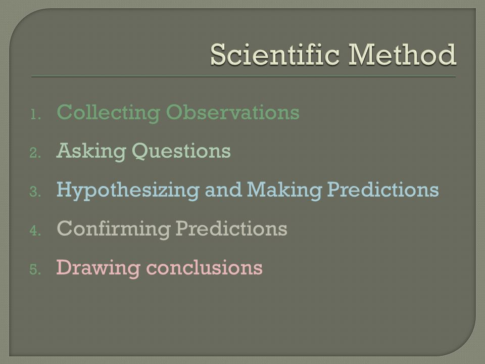 Scientific Method Collecting Observations Asking Questions