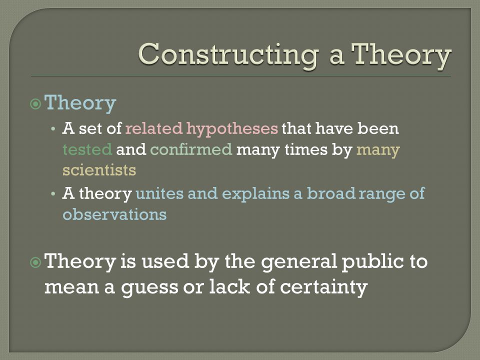 Constructing a Theory Theory