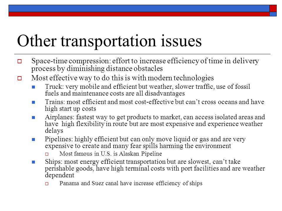 Other transportation issues