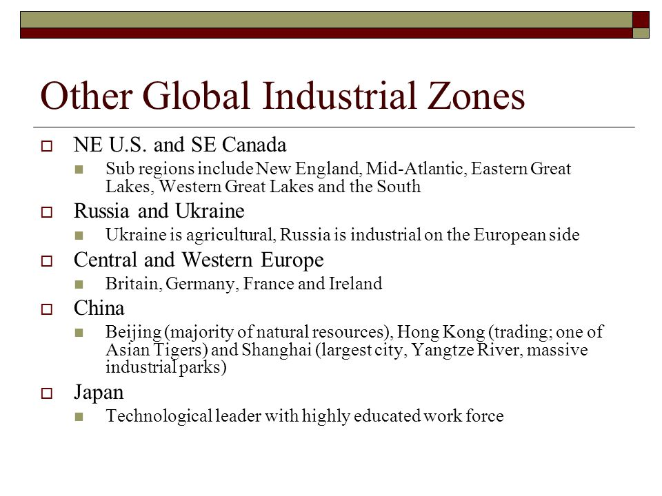 Other Global Industrial Zones