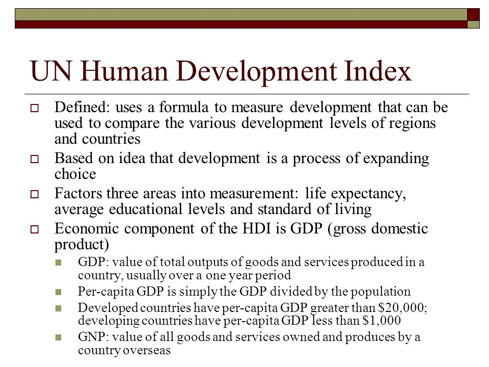 UN Human Development Index