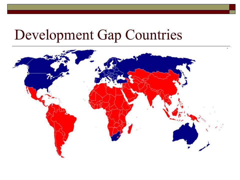 Development Gap Countries