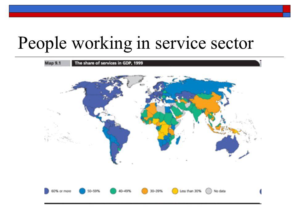 People working in service sector