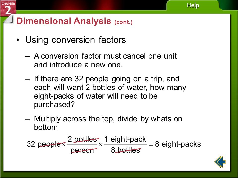 Dimensional Analysis (cont.)
