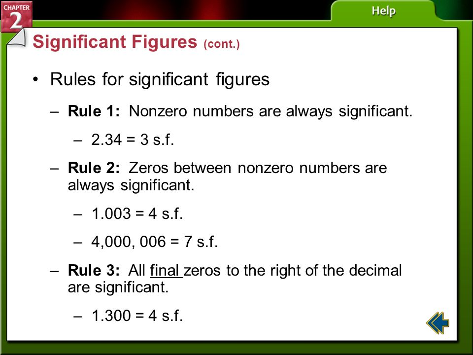 Significant Figures (cont.)