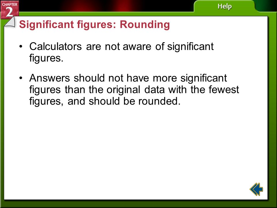 Significant figures: Rounding