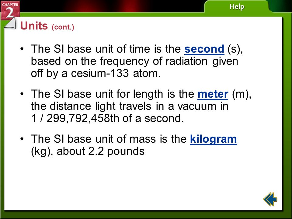 The SI base unit of mass is the kilogram (kg), about 2.2 pounds