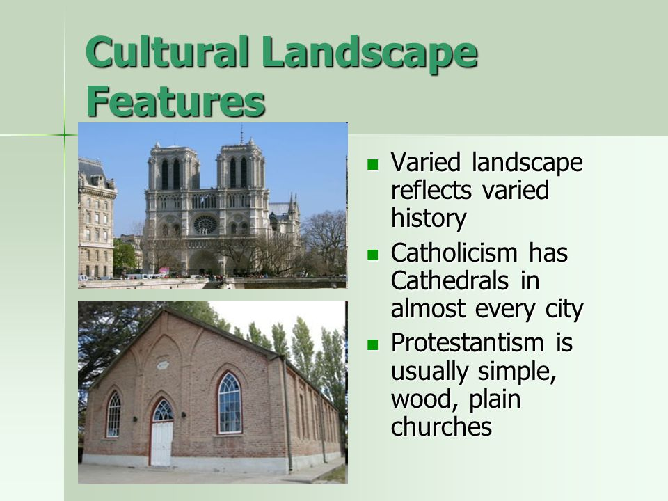 Cultural Landscape Features
