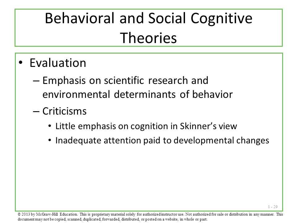 Behavioral and Social Cognitive Theories
