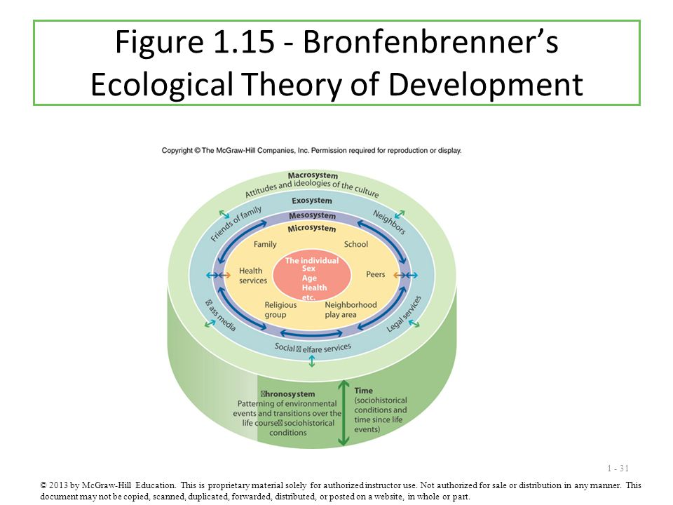 Figure 1.15 - Bronfenbrenner's Ecological Theory of Development