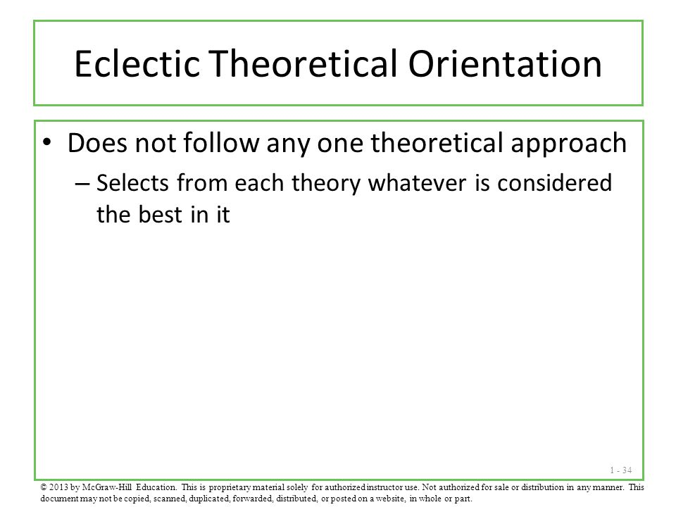 Eclectic Theoretical Orientation