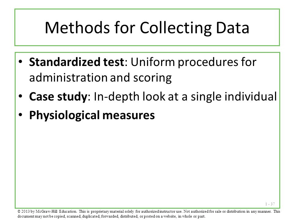 Methods for Collecting Data