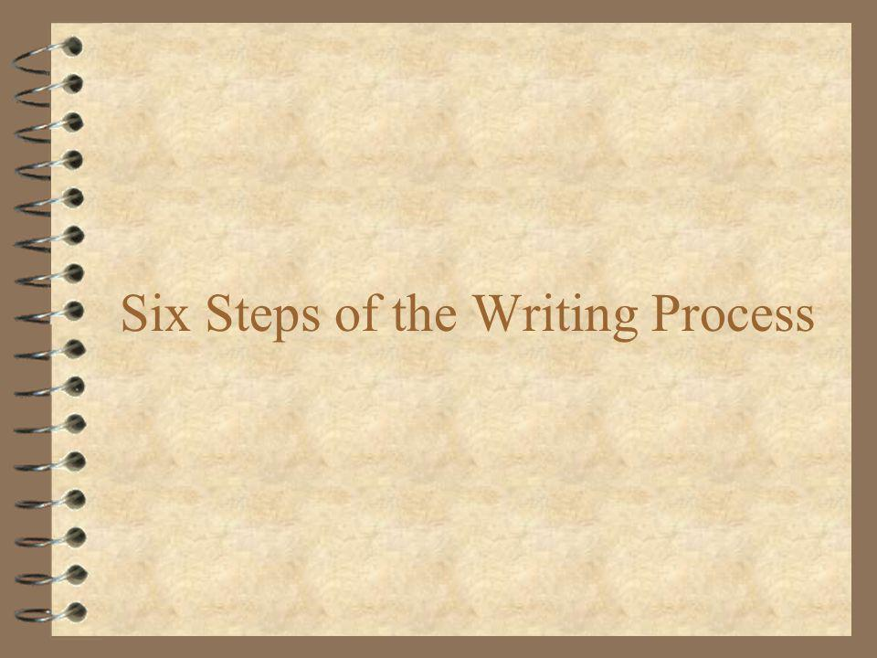 Six Steps of the Writing Process