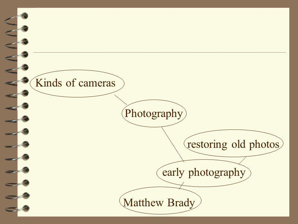 Kinds of cameras Photography restoring old photos early photography Matthew Brady