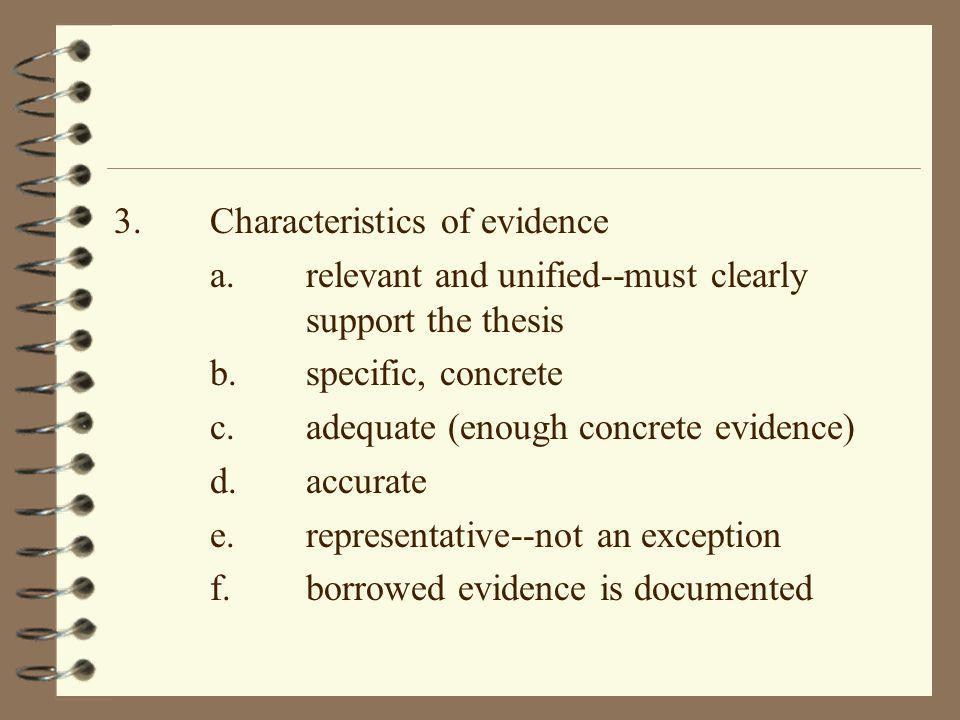 Thesis writing characteristics
