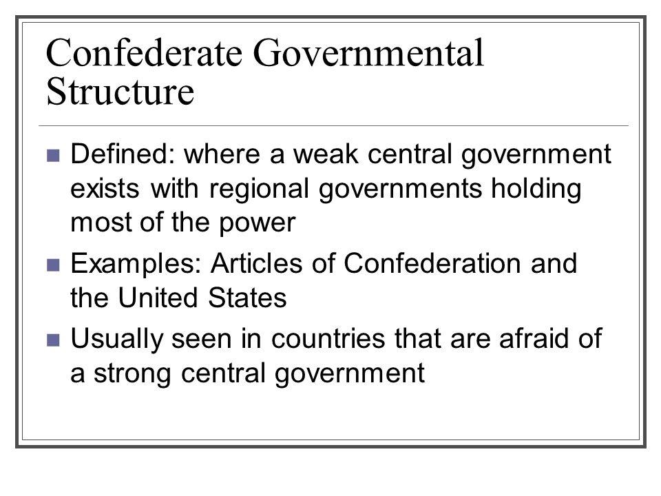 Confederate Governmental Structure