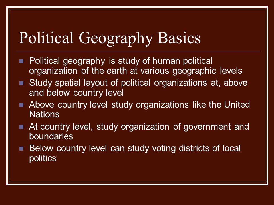 Political Geography Basics