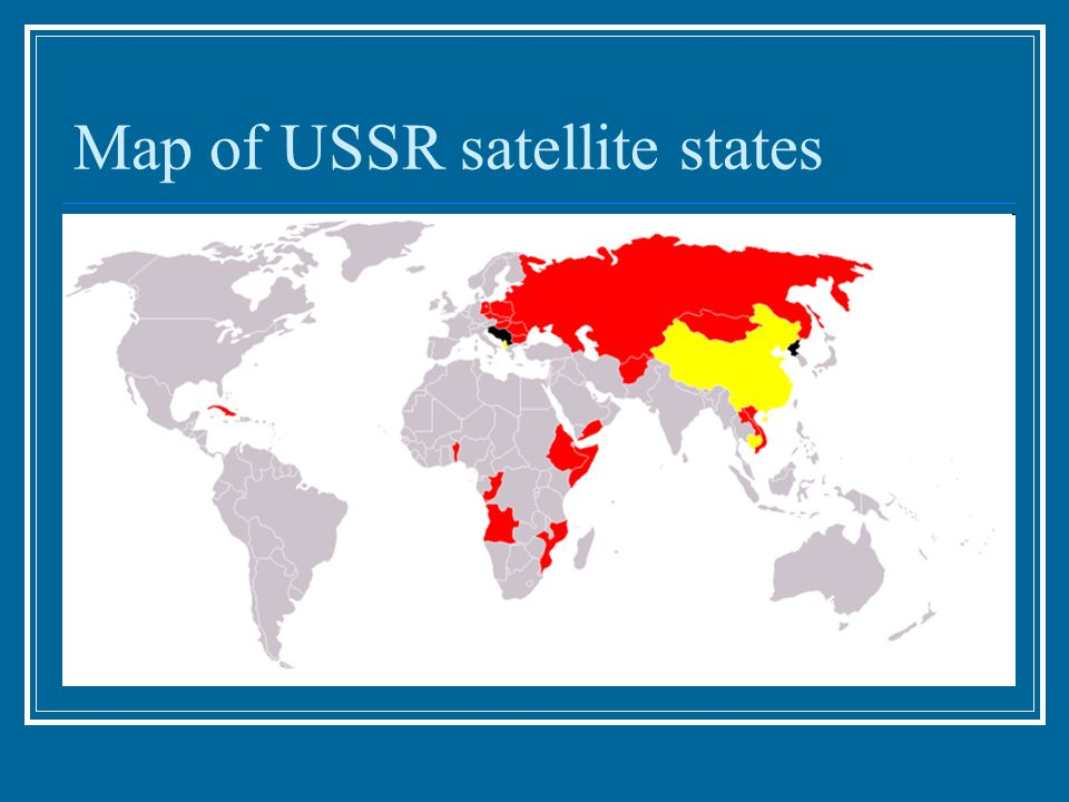 Map of USSR satellite states