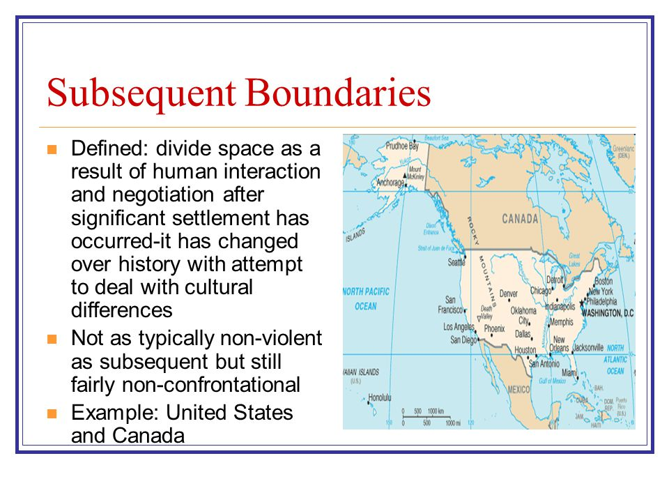 Subsequent Boundaries