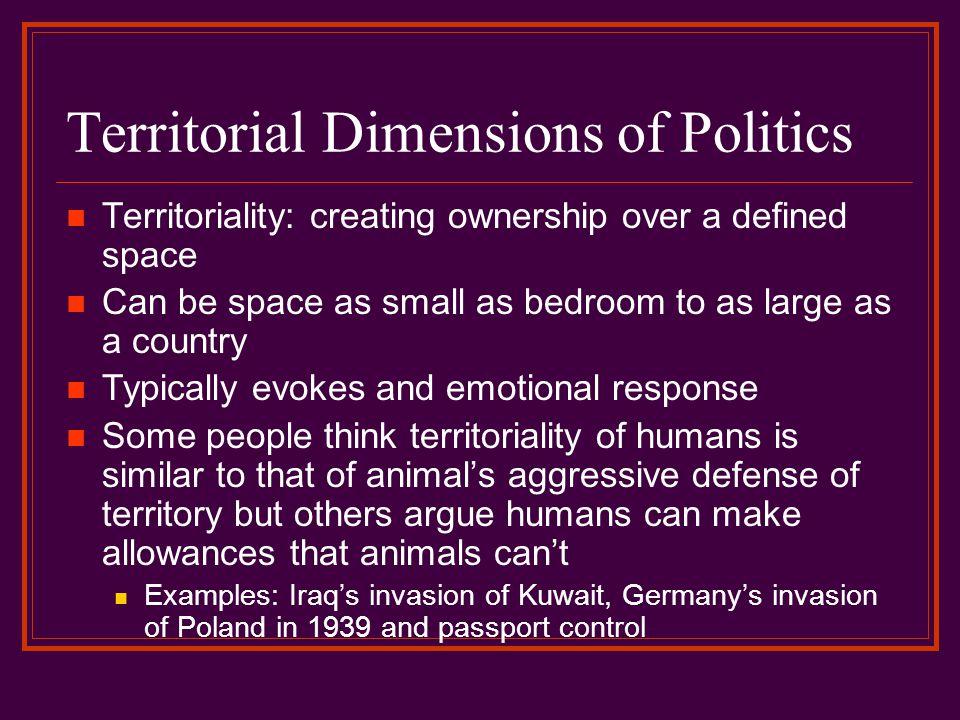 Territorial Dimensions of Politics