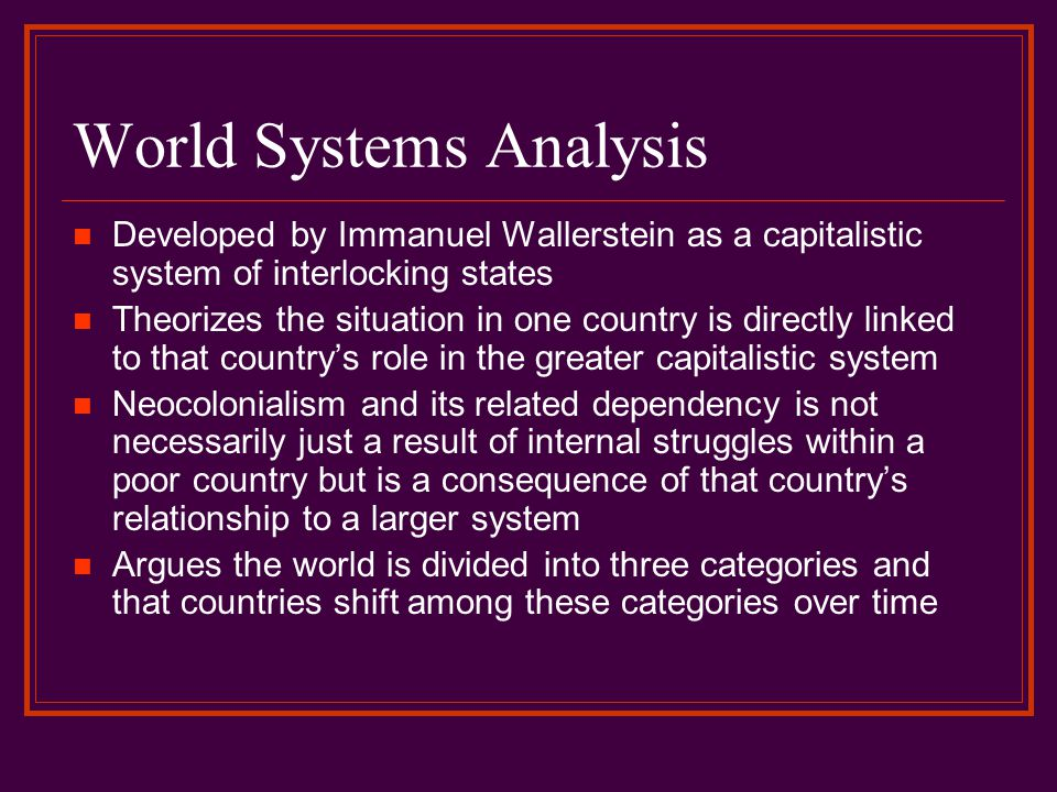 World Systems Analysis