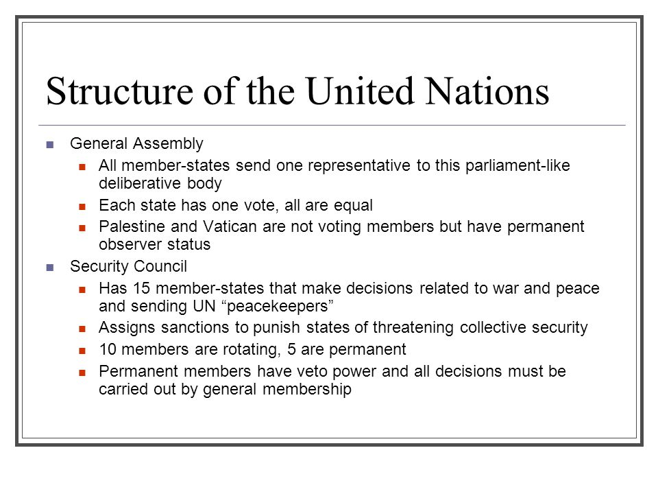 Structure of the United Nations