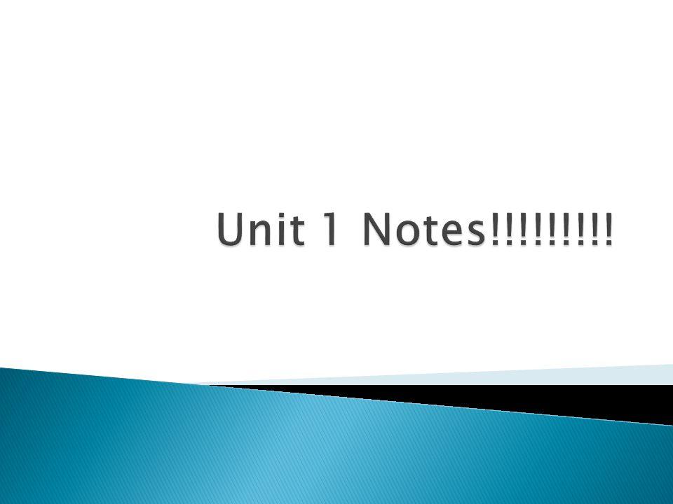 Unit 1 Notes!!!!!!!!!