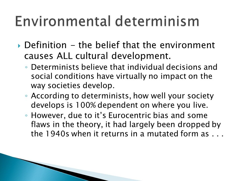 Environmental determinism and possibilism examples movie review.