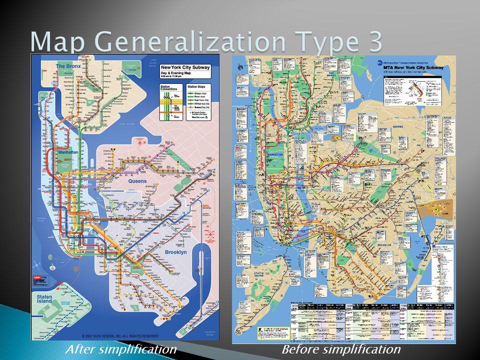 Map Generalization Type 3