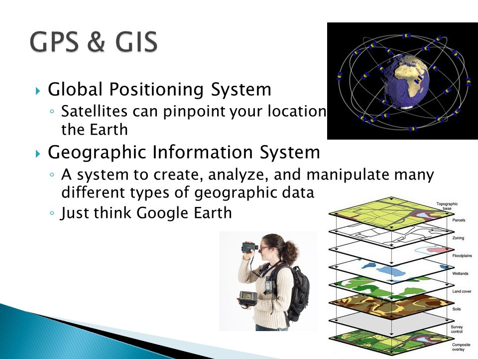GPS & GIS Global Positioning System Geographic Information System