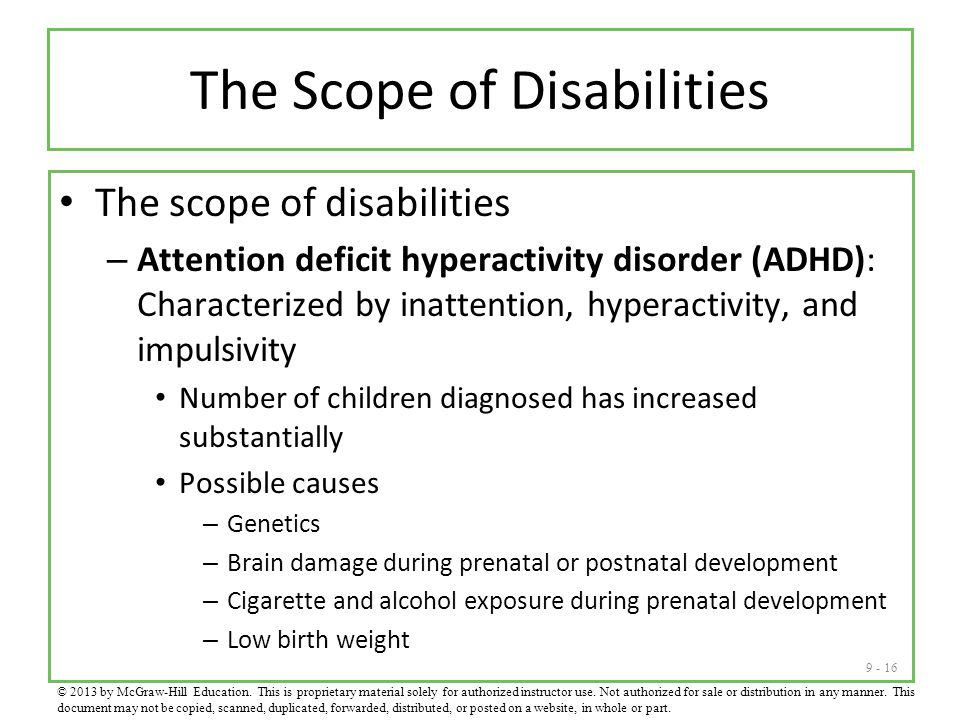 The Scope of Disabilities