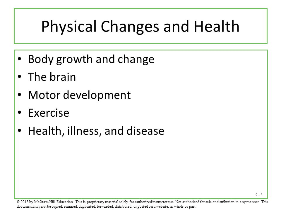 Physical Changes and Health