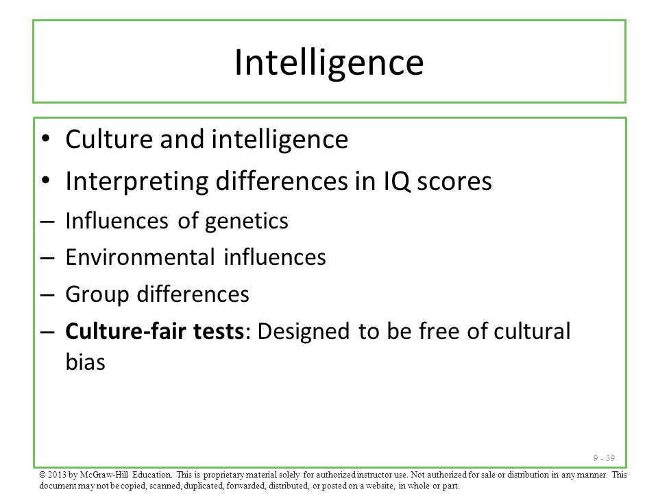 Intelligence Culture and intelligence