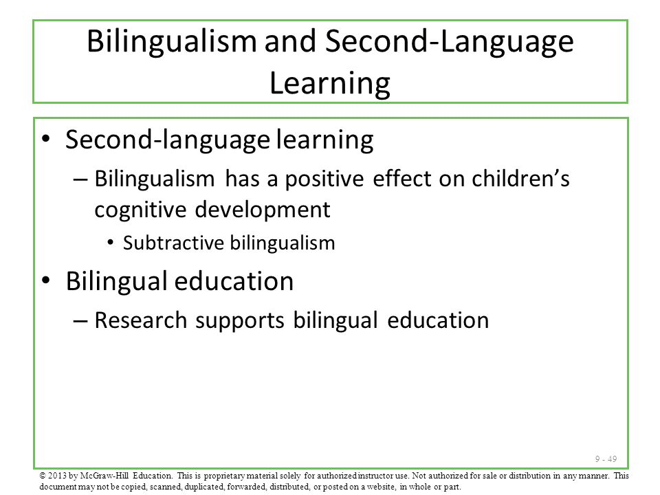 Bilingualism and Second-Language Learning