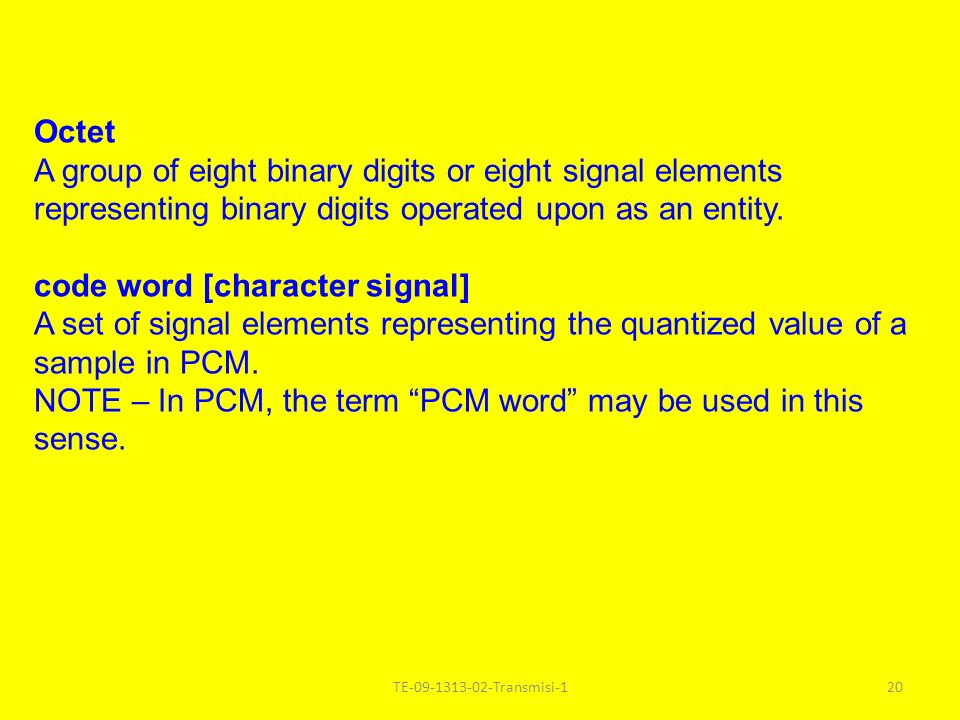 code word [character signal]