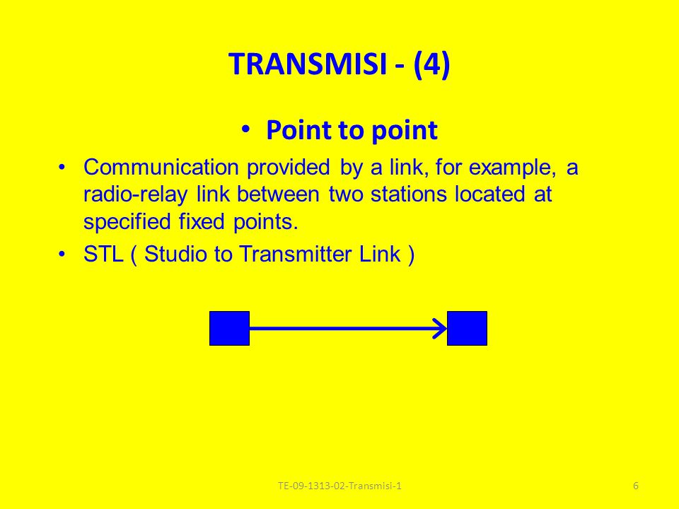 TRANSMISI - (4) Point to point