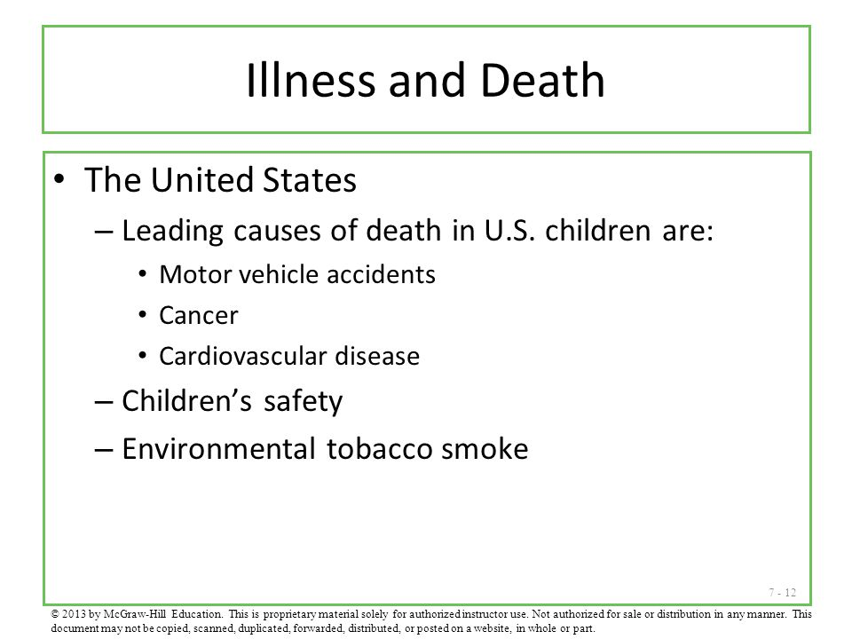 Illness and Death The United States