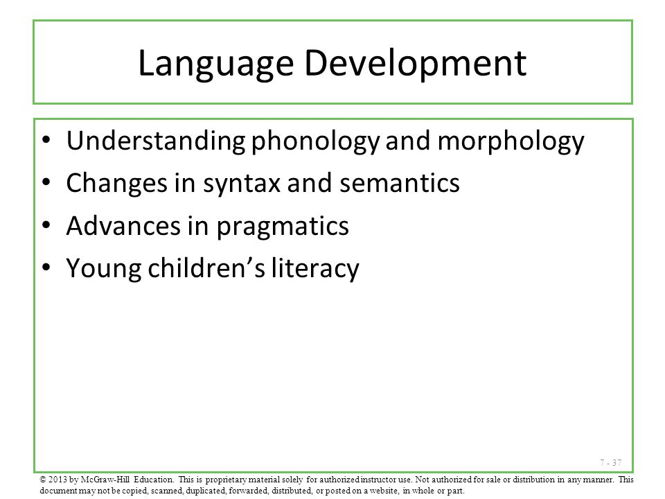 Language Development Understanding phonology and morphology
