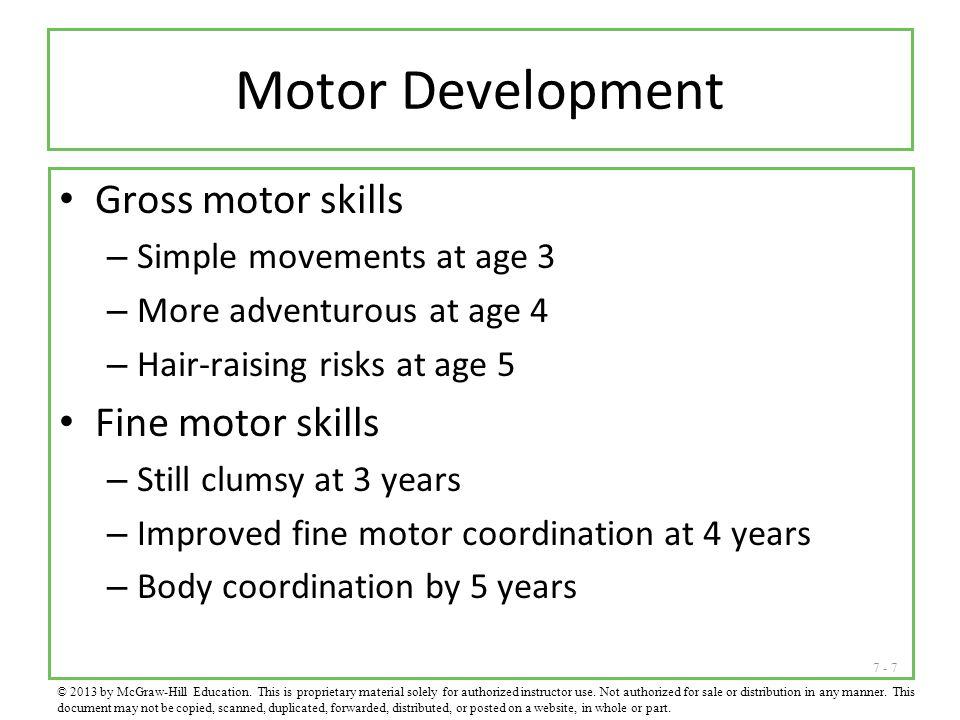Motor Development Gross motor skills Fine motor skills