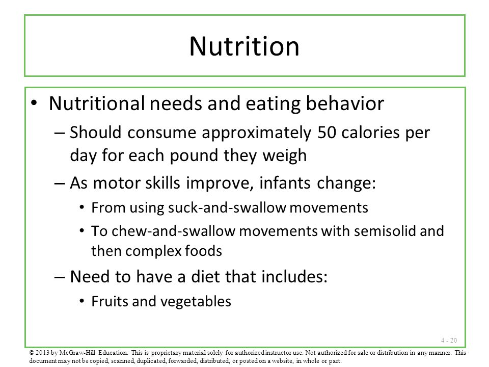 Nutrition Nutritional needs and eating behavior