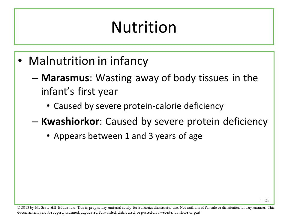 Nutrition Malnutrition in infancy