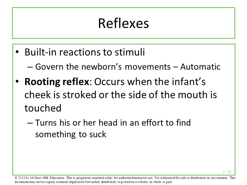 Reflexes Built-in reactions to stimuli