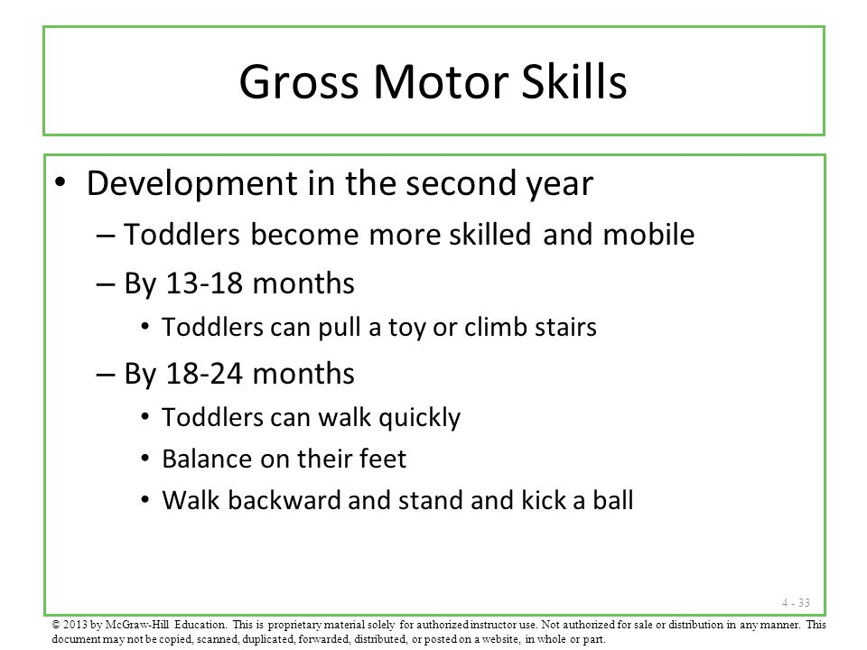 Gross Motor Skills Development in the second year