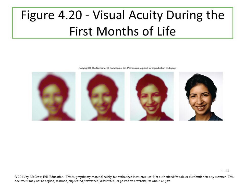 Figure 4.20 - Visual Acuity During the First Months of Life